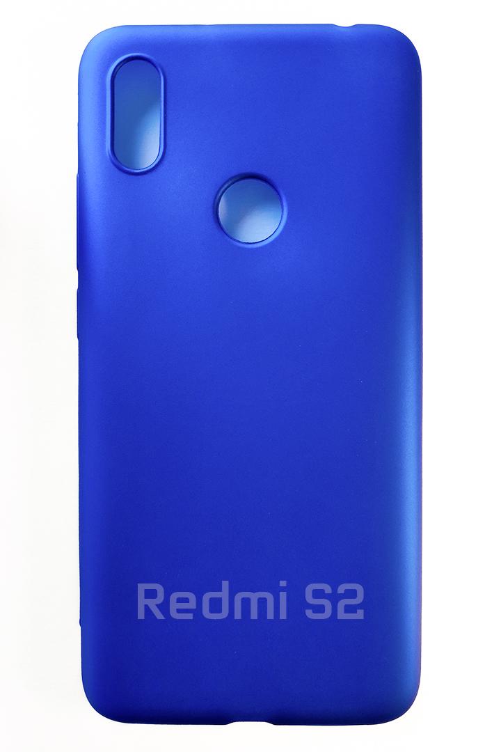Redmi S2 szilikon tok, matt kék