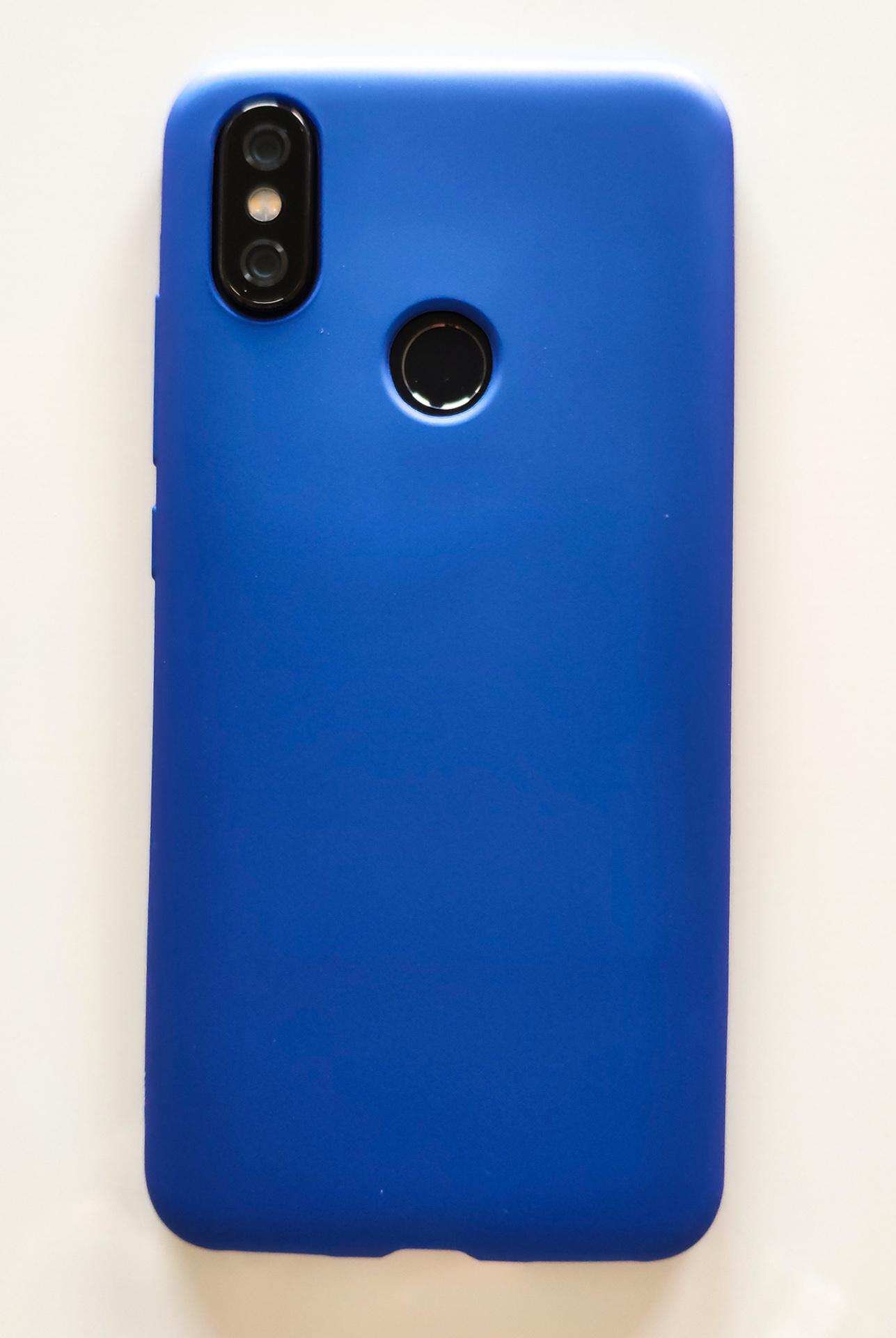 Mi A2 / Mi 6X szilikon tok, matt kék