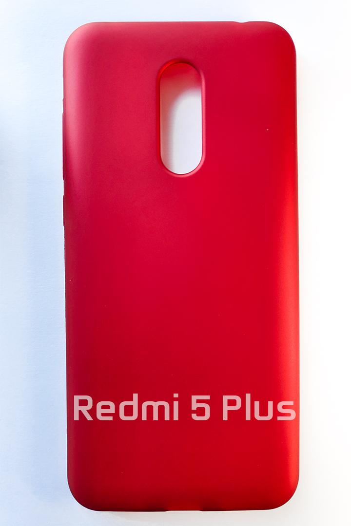 Redmi 5 Plus szilikon tok, matt piros