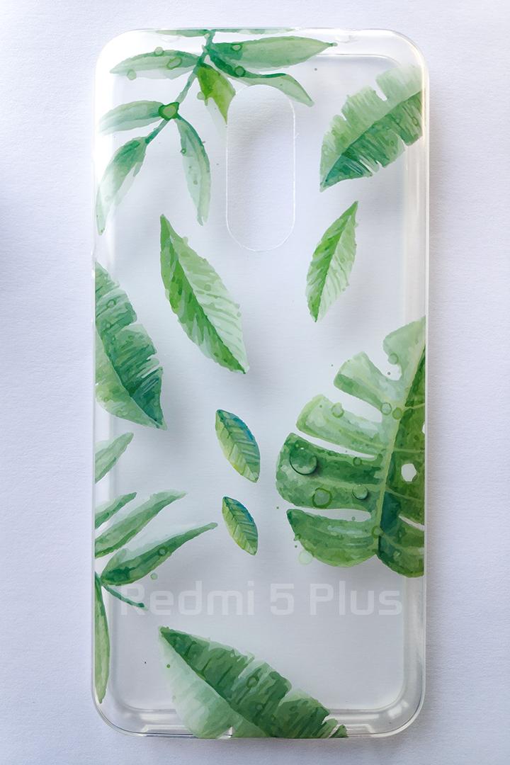 Redmi 5 Plus Forcell Tropico  szilikon tok, átlátszó-mintás