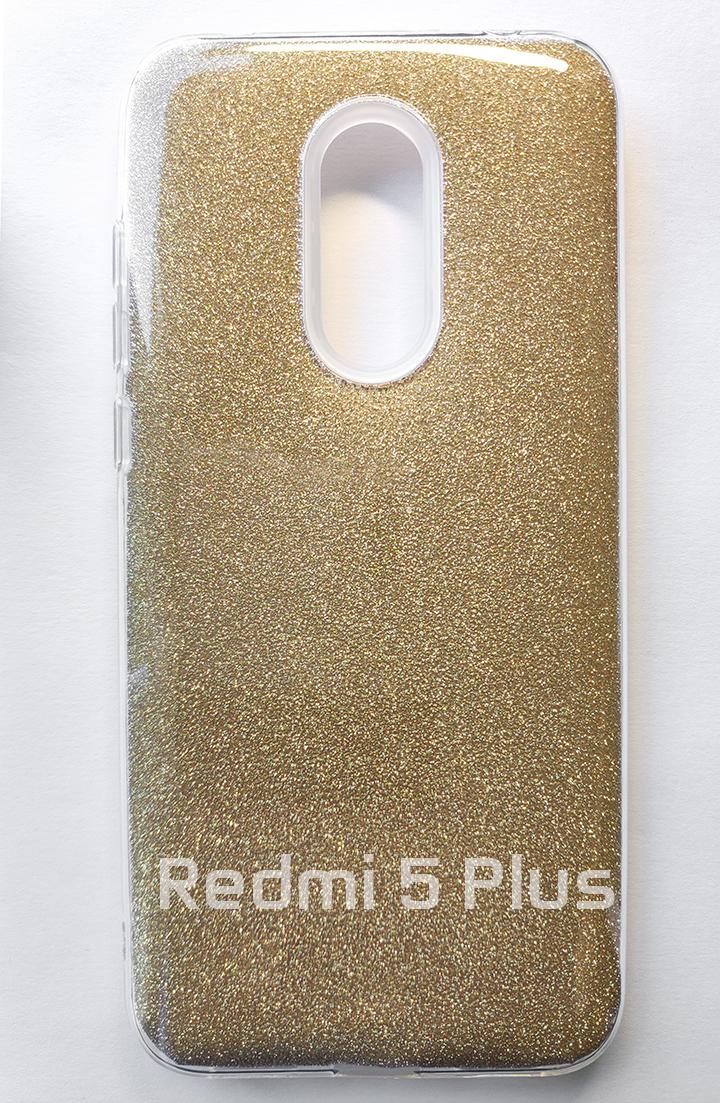 Redmi 5 Plus Forcell Shinning szilikon tok - arany