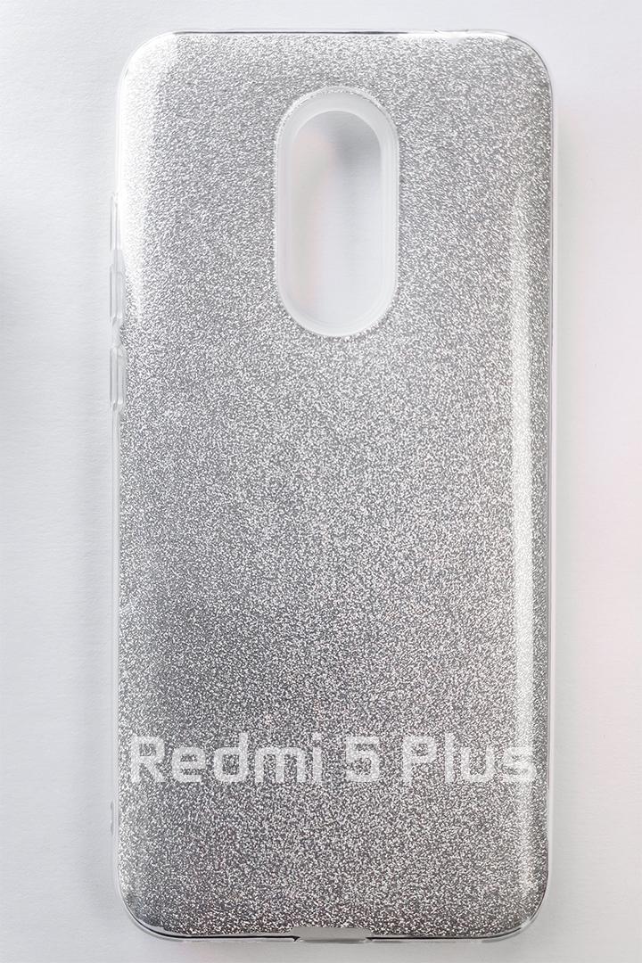 Redmi 5 Plus Forcell Shinning szilikon tok - ezüst