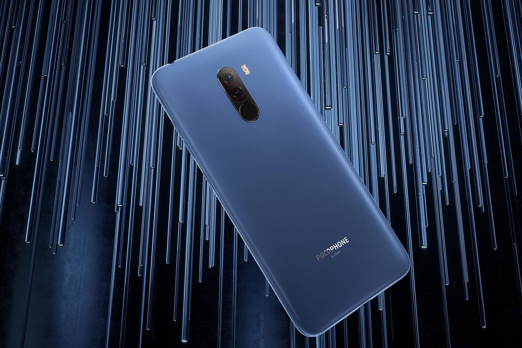 Pocophone F1 okostelefon 6+64GB, kék