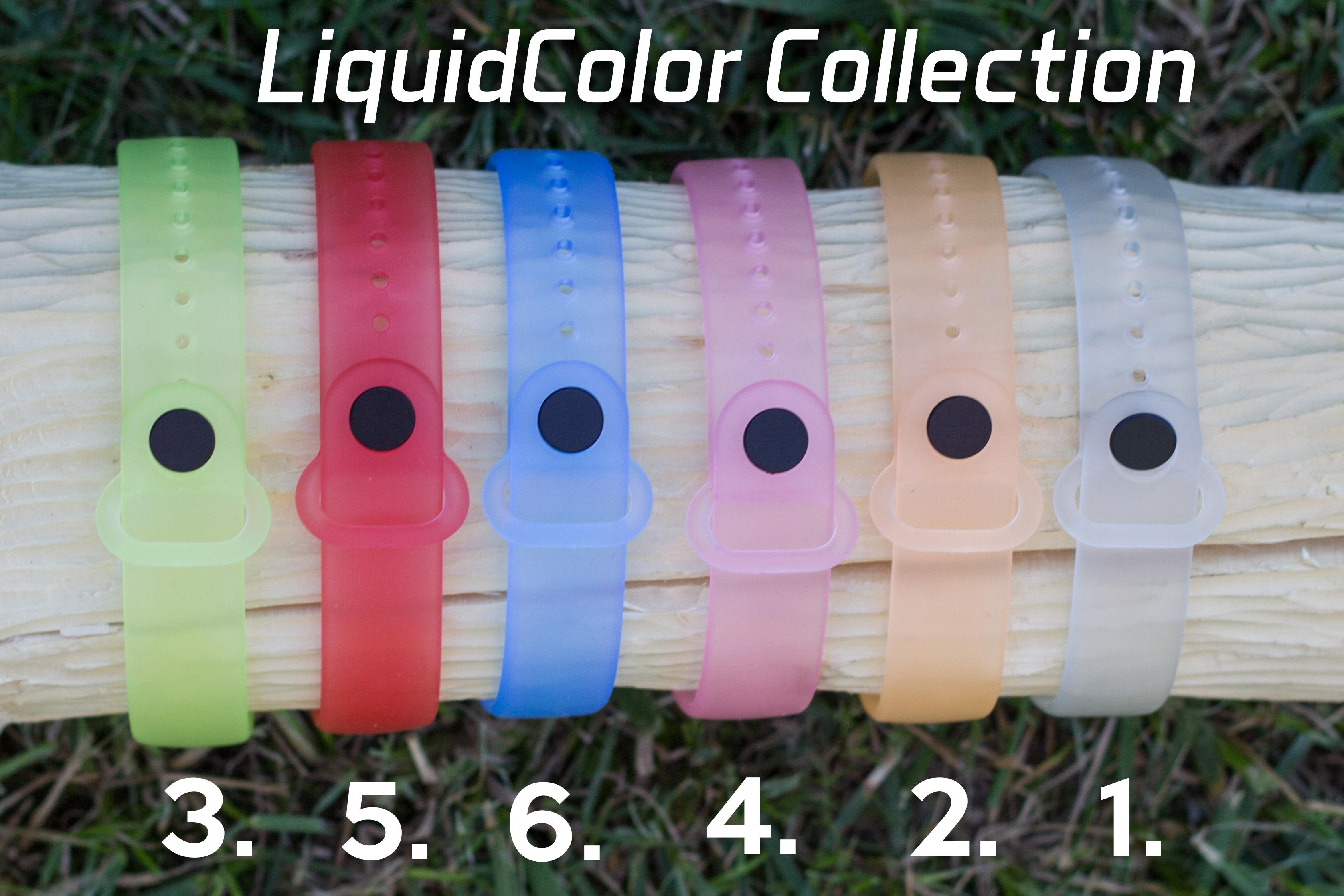 Mi Band 3 szilikon pánt - LiquidColor 2