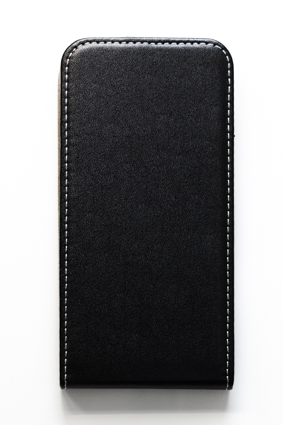 Redmi 6A mágneses Flip műbőr tok - lefelé nyíló, fekete