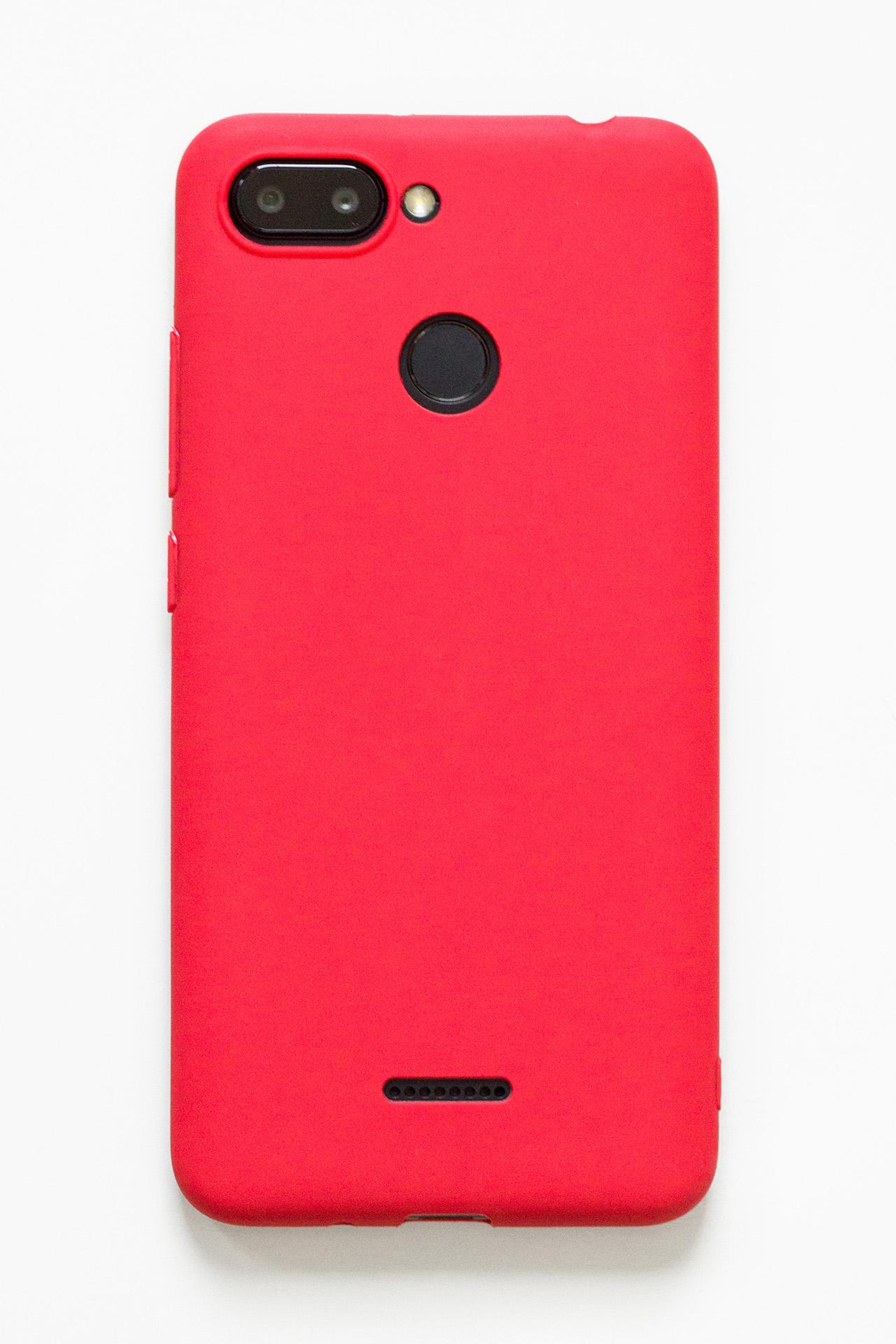 Redmi 6 szilikon tok (Forcell), piros