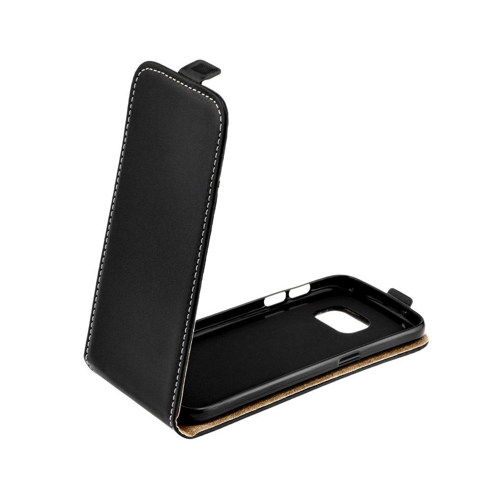 Redmi 6 Pro / Mi A2 Lite mágneses Flip műbőr tok - lefelé nyíló, fekete