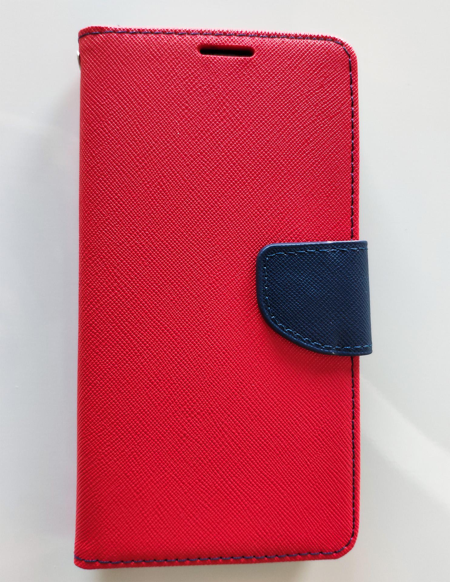 Pocophone F1 Fancy Book flip tok, piros - sötétkék
