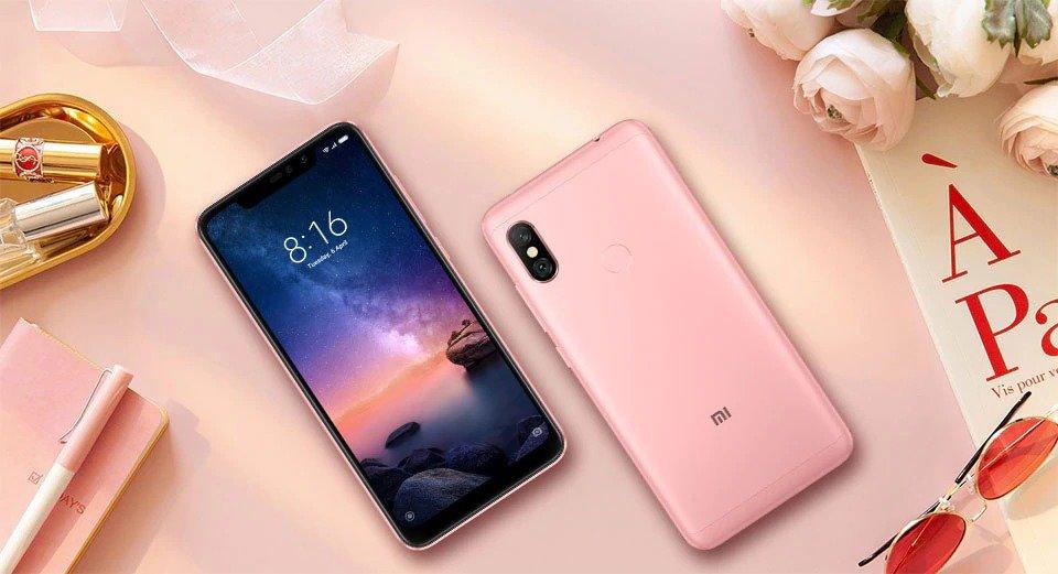 Redmi Note 6 Pro okostelefon - 3+32GB, rózsaszín - B20