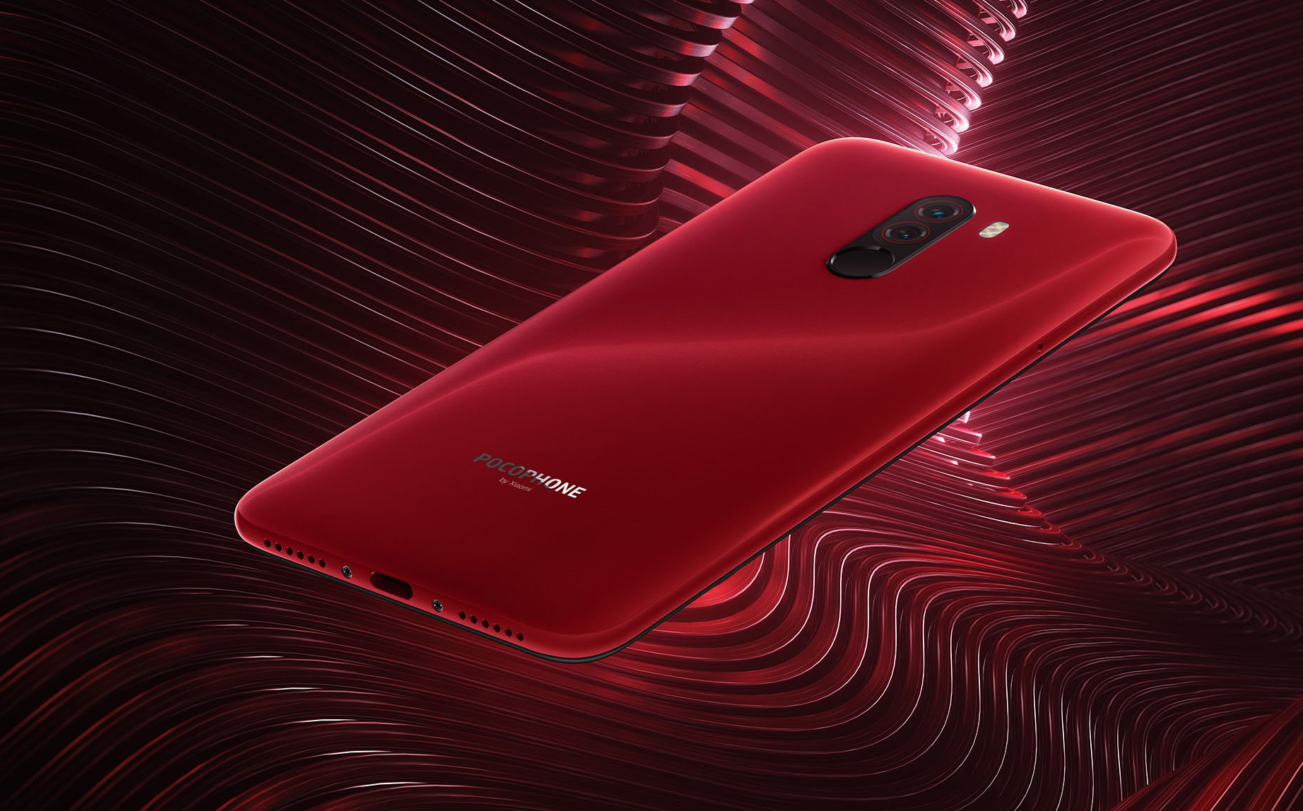 Pocophone F1 okostelefon 6+64GB, piros