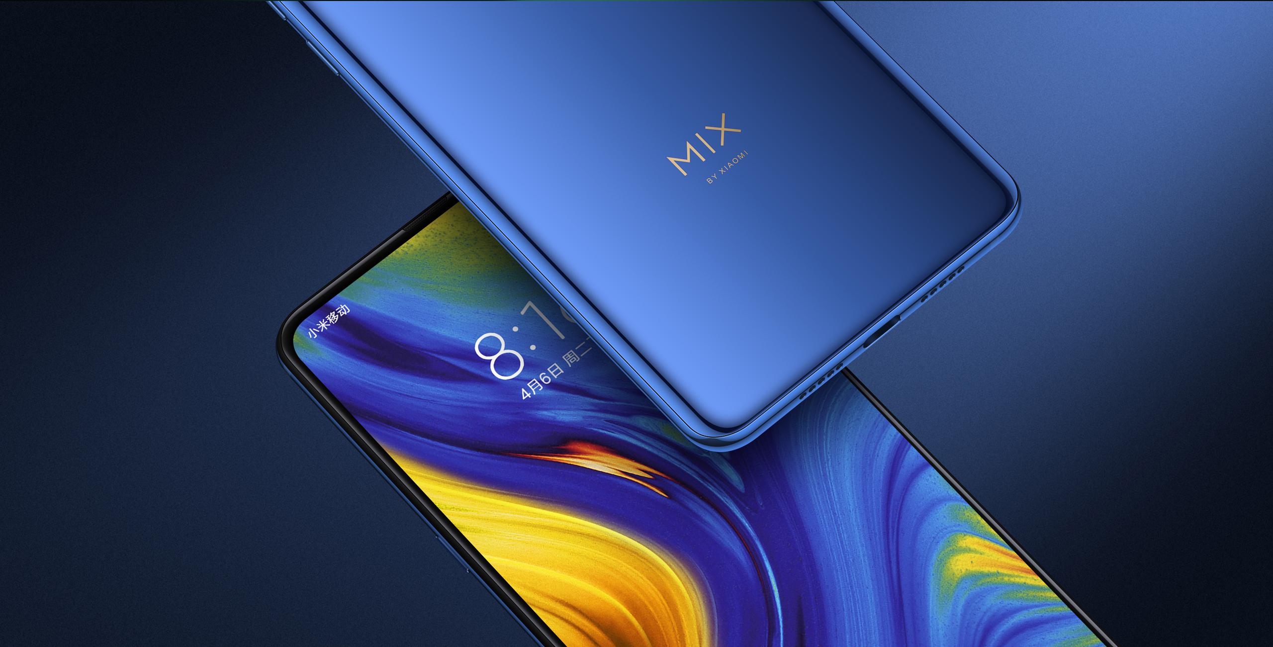 Mi MIX 3 okostelefon - 8+128GB, zafírkék