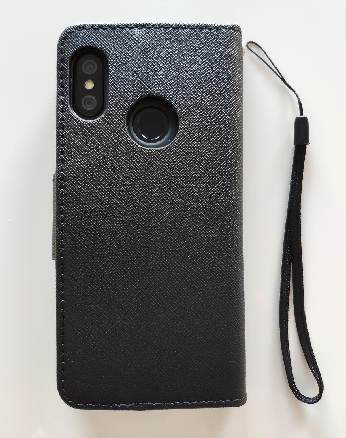 Redmi 6 Pro / Mi A2 Lite Fancy Book flip tok, fekete