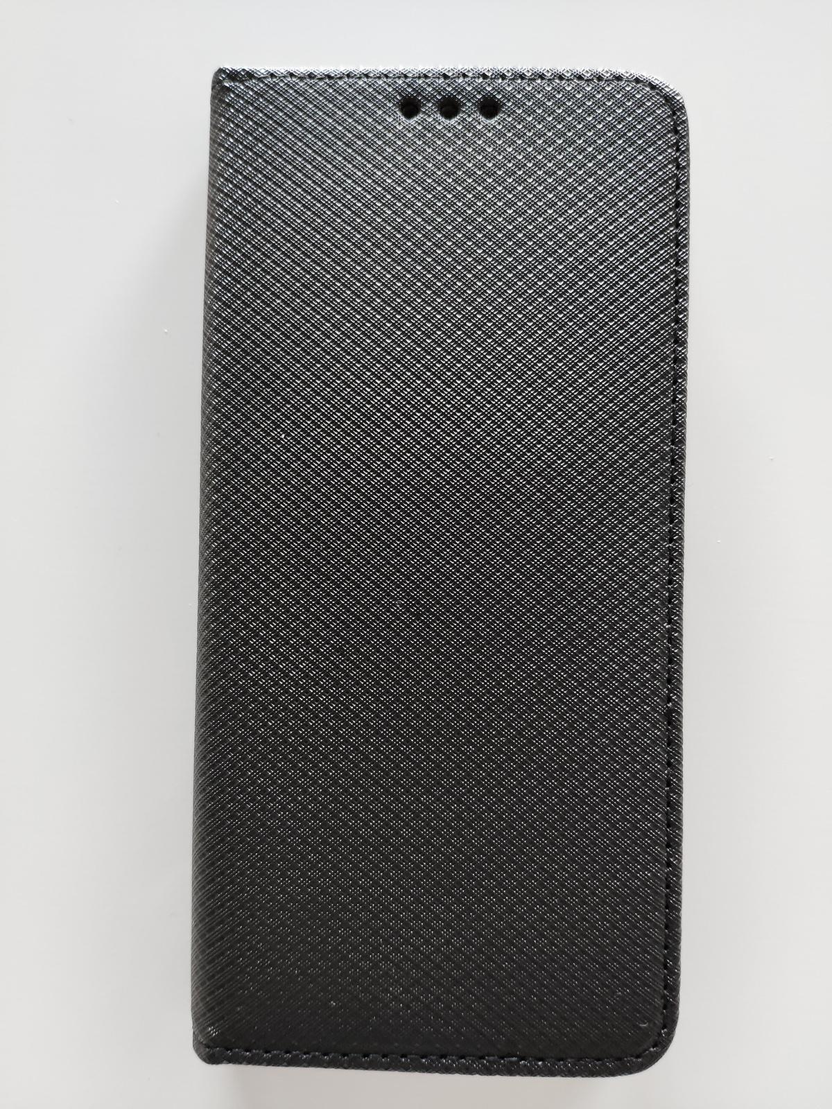 Redmi 6 Pro / Mi A2 Lite Magnet flip tok, fekete - átlátszó