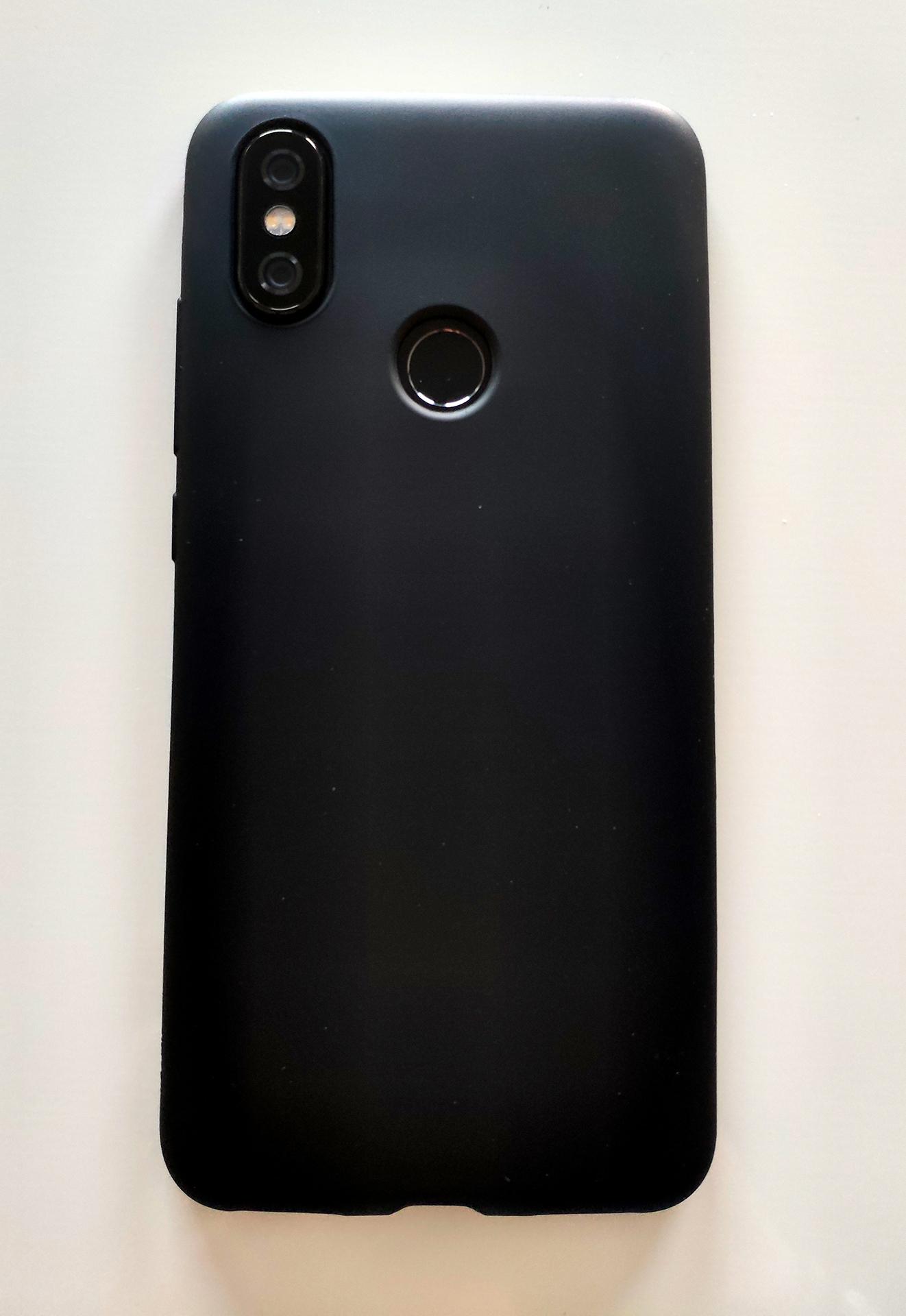 Mi A2 / Mi 6X szilikon tok (Jelly) matt, fekete