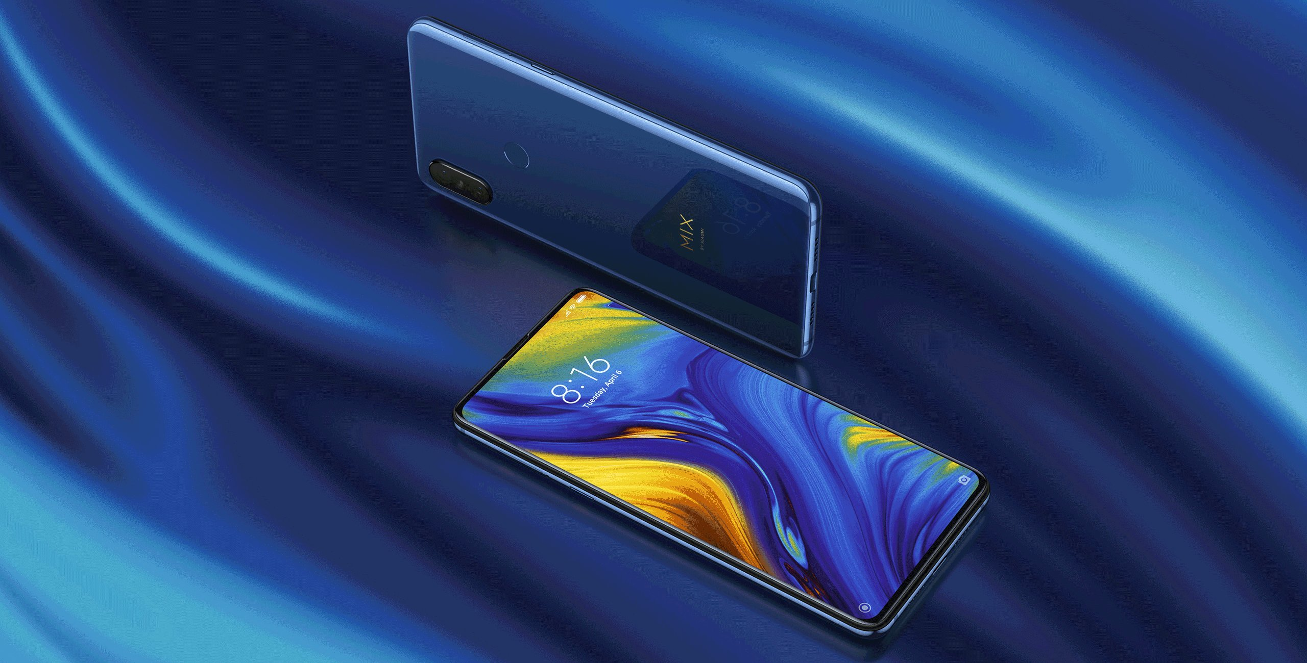 Smartphone Mi MIX 3 - 6+128GB - versiunea Global, Albastră