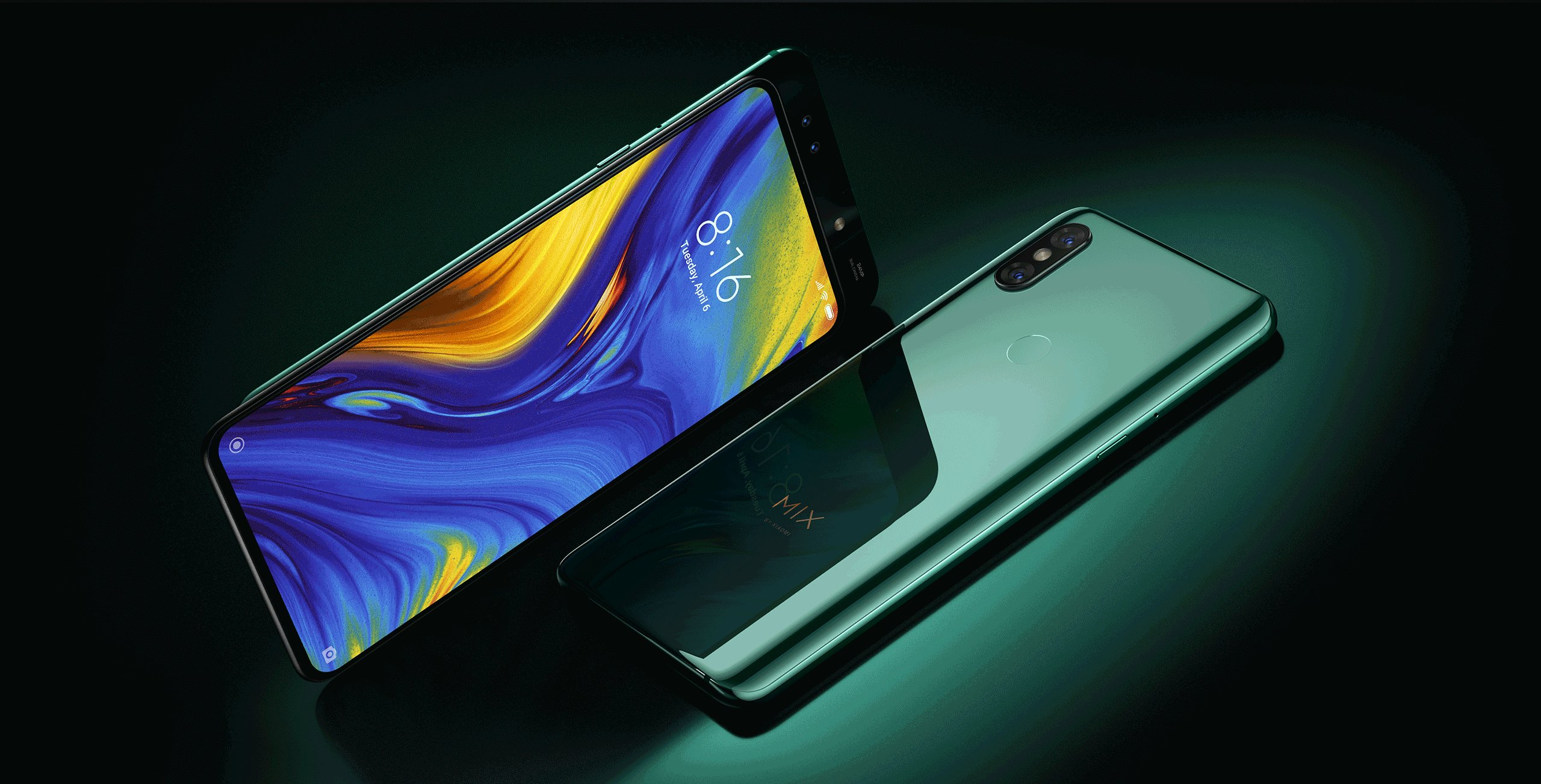 Mi MIX 3 okostelefon - 6+128GB, smaragdzöld - Global