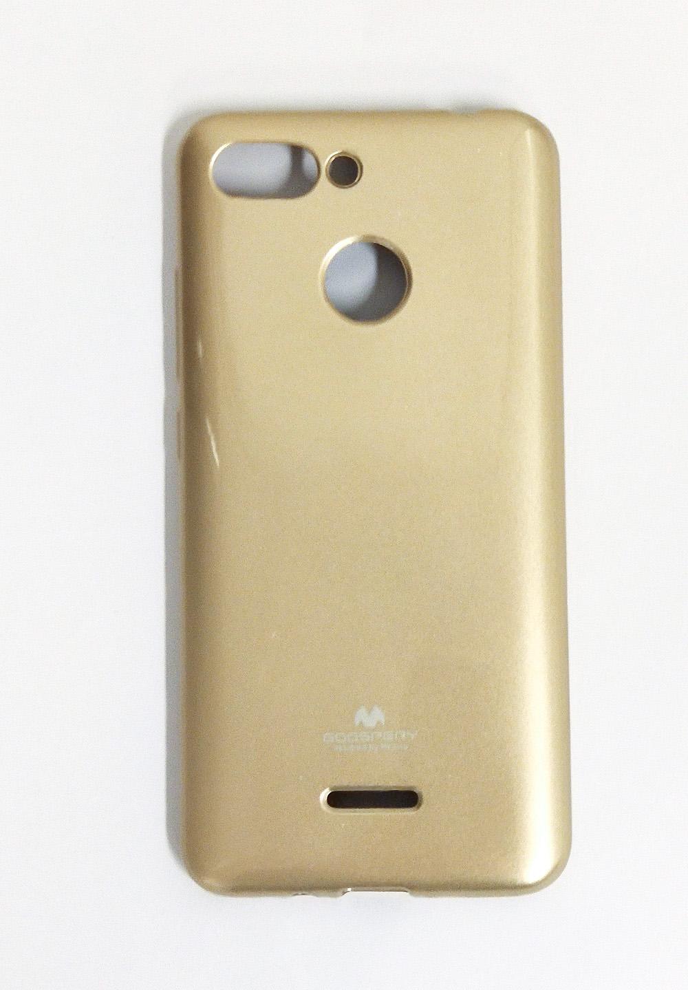 Redmi 6 fényes szilikon tok (Mercury), arany