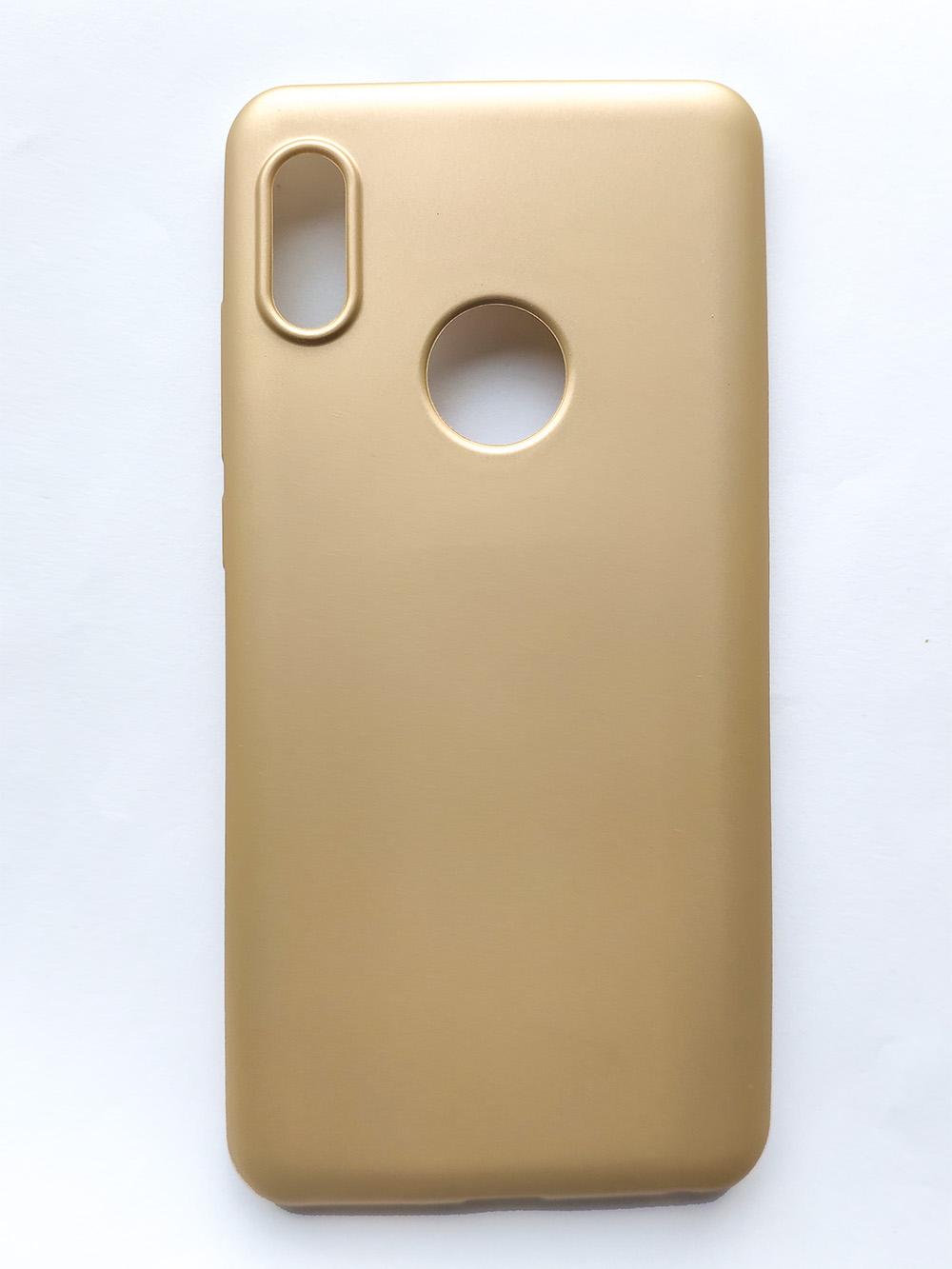 Redmi 6 Pro / Mi A2 Lite matt szilikon tok, arany