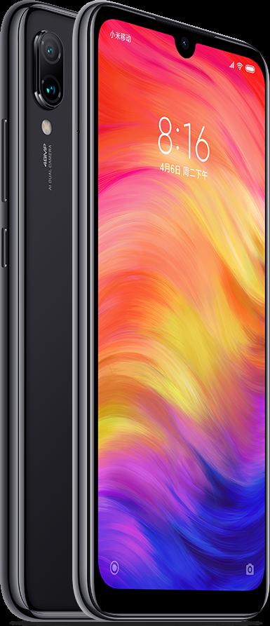 Redmi Note 7 okostelefon (Global) - 4+64GB, fekete