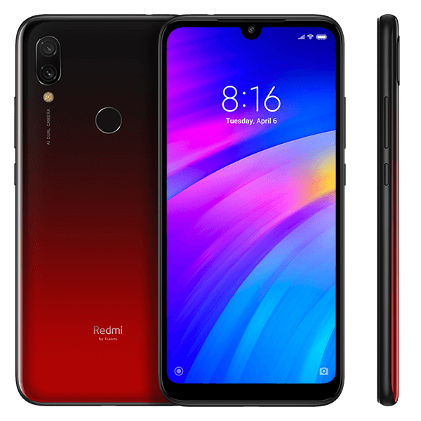 Smartphone Redmi 7 -  versiunea Global - 4+64GB - Roșu