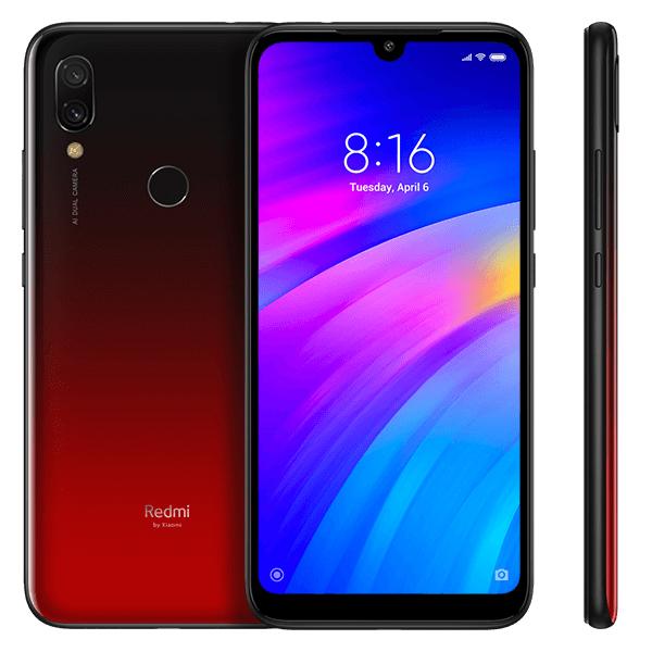 Smartphone Redmi 7 -  versiunea Global - 3+64GB - Roșu