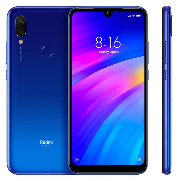 Smartphone Redmi 7 - versiunea Global - 3+64GB - Albastră