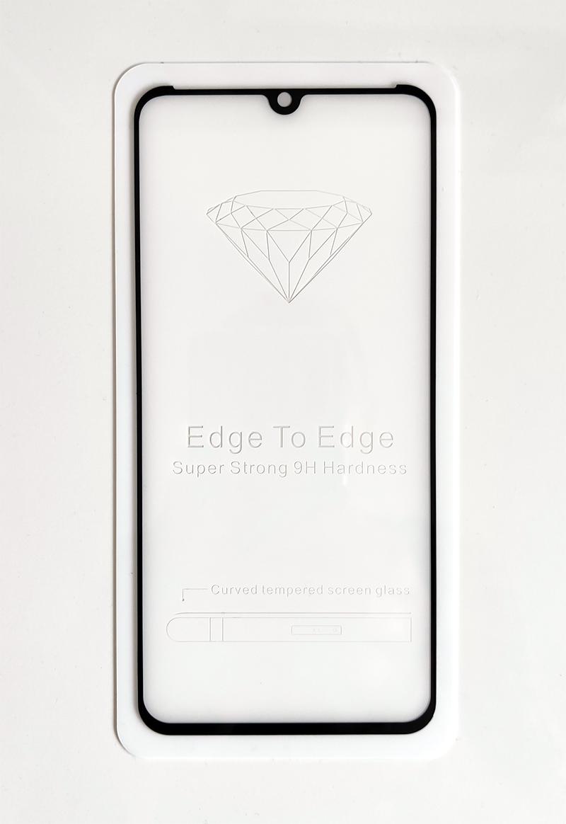 Mi 9 5D kijelzővédő üveg - fekete ívelt széllel