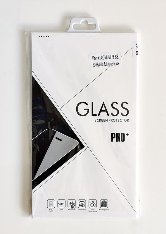 Mi 9 SE 5D kijelzővédő üveg - fekete ívelt műanyag széllel