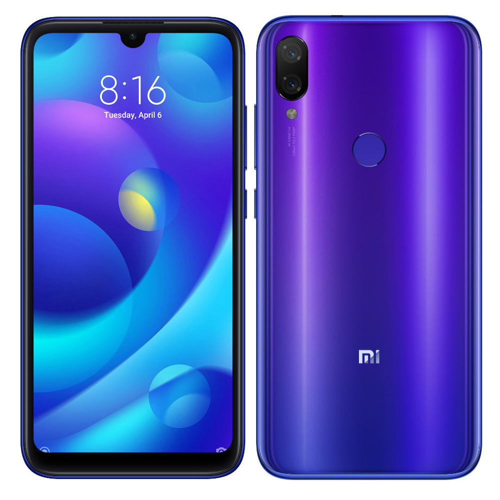 Mi Play okostelefon (Global) - 4+64GB, Neptune Blue