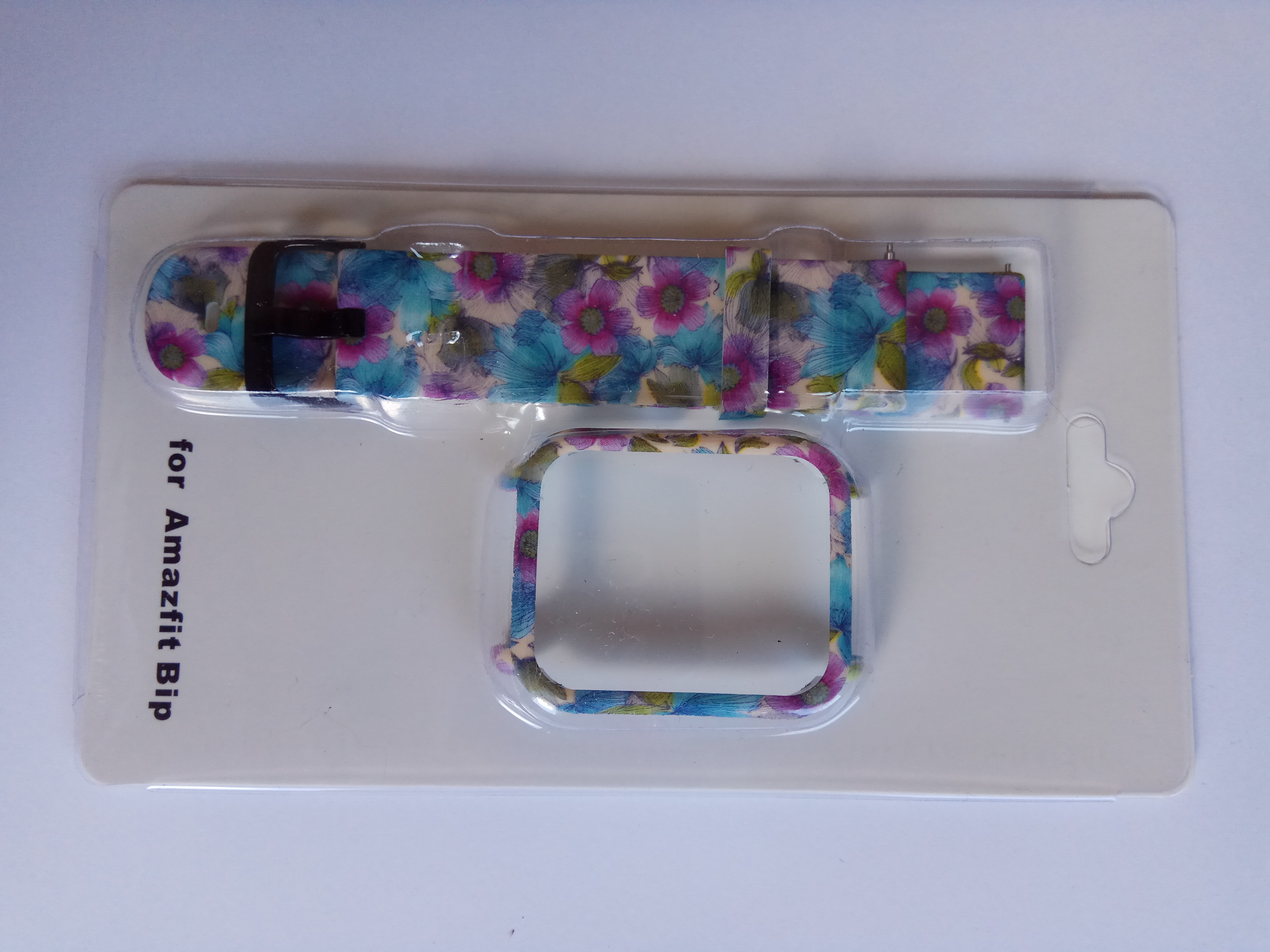 Amazfit Bip szíj és tok szett virág mintás 1