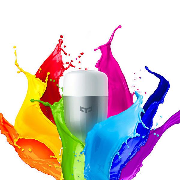 Yeelight Smart LED Bulb (600lm) E27 okosizzó (CN verzió) - színes