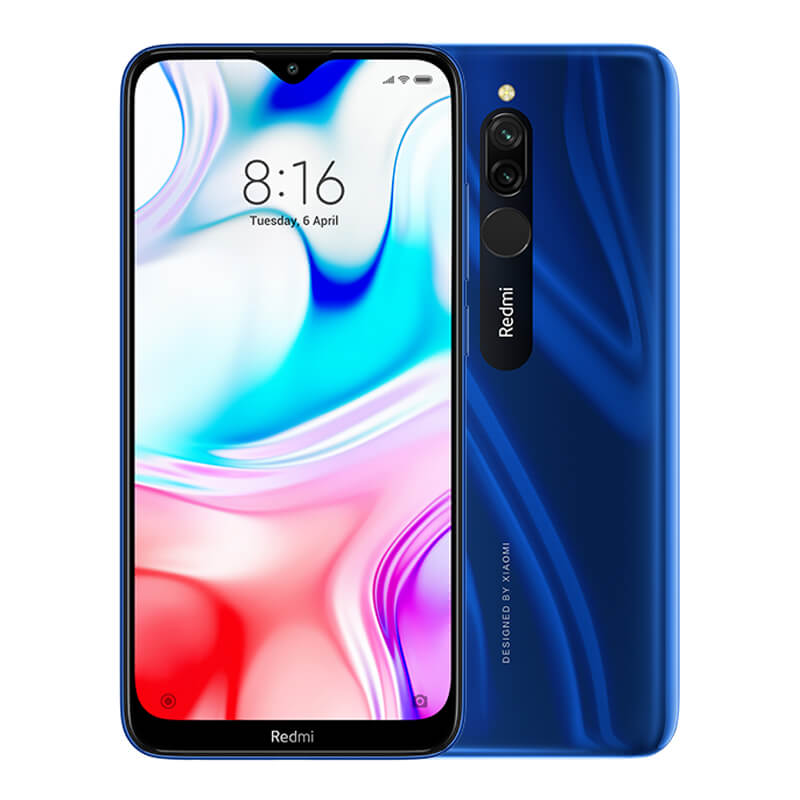 Redmi 8 okostelefon (Global) - 4+64GB, Zafírkék