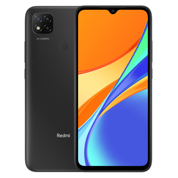 Redmi 9C okostelefon - 3+64GB, Midnight Grey