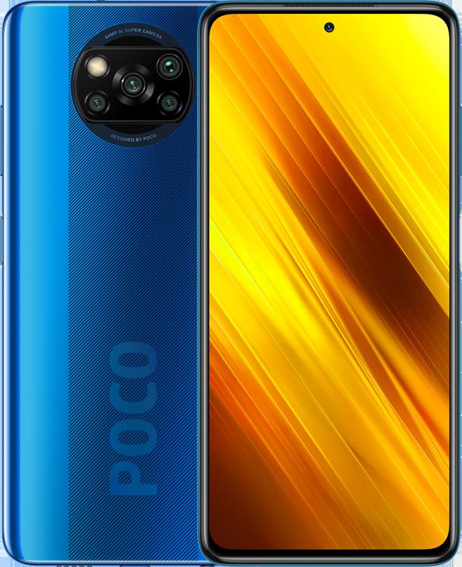 POCO X3 NFC okostelefon 6+64GB, Cobalt Blue