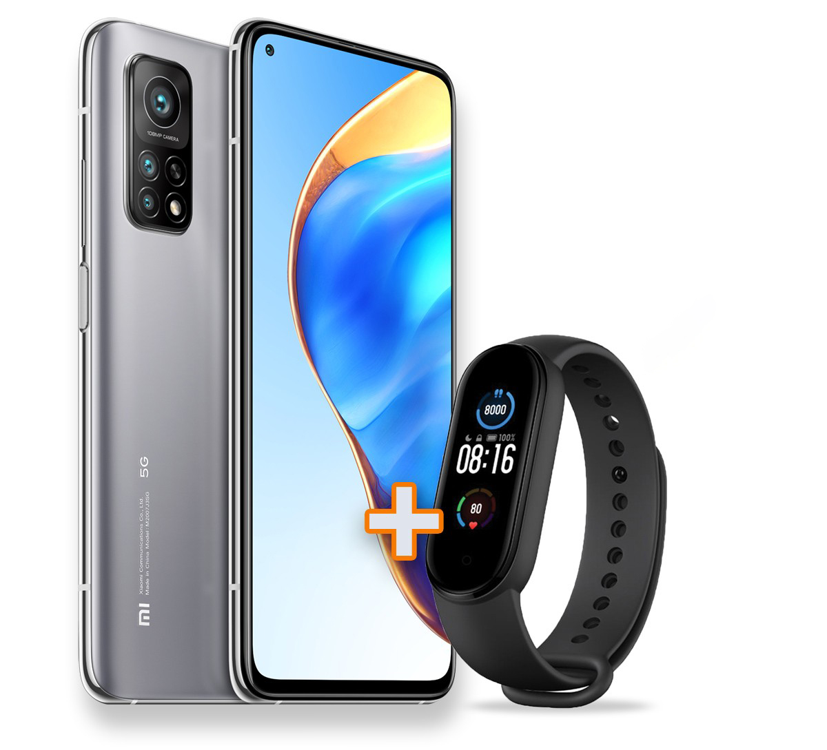 Mi 10T Pro 5G 8GB+128GB, Lunar Silver + Mi Band 5 Kit