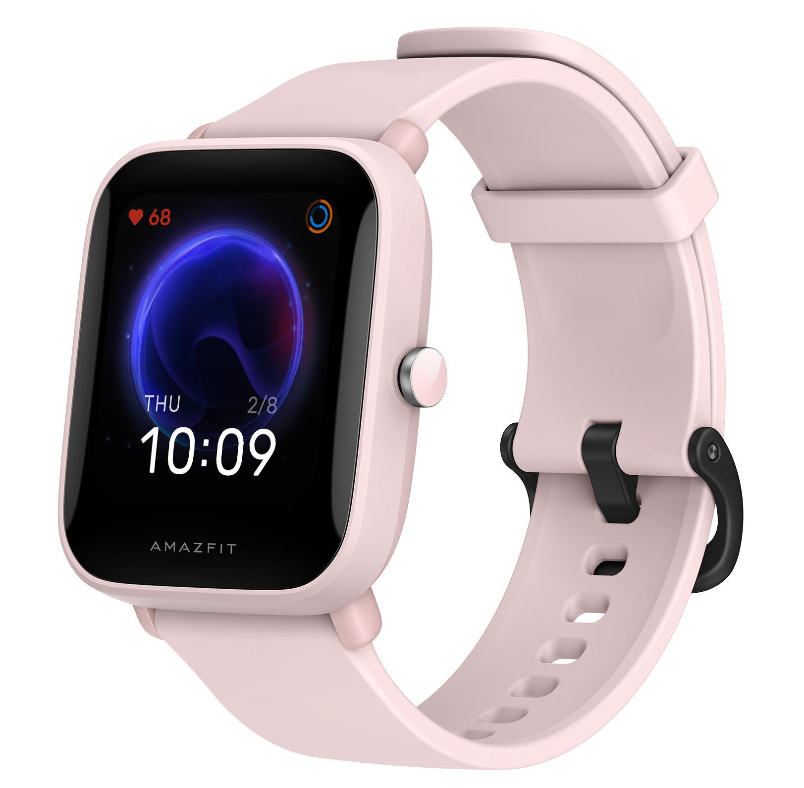Ceas inteligent Amazfit Bip U Pro  SpO2 + GPS, culoarea pink