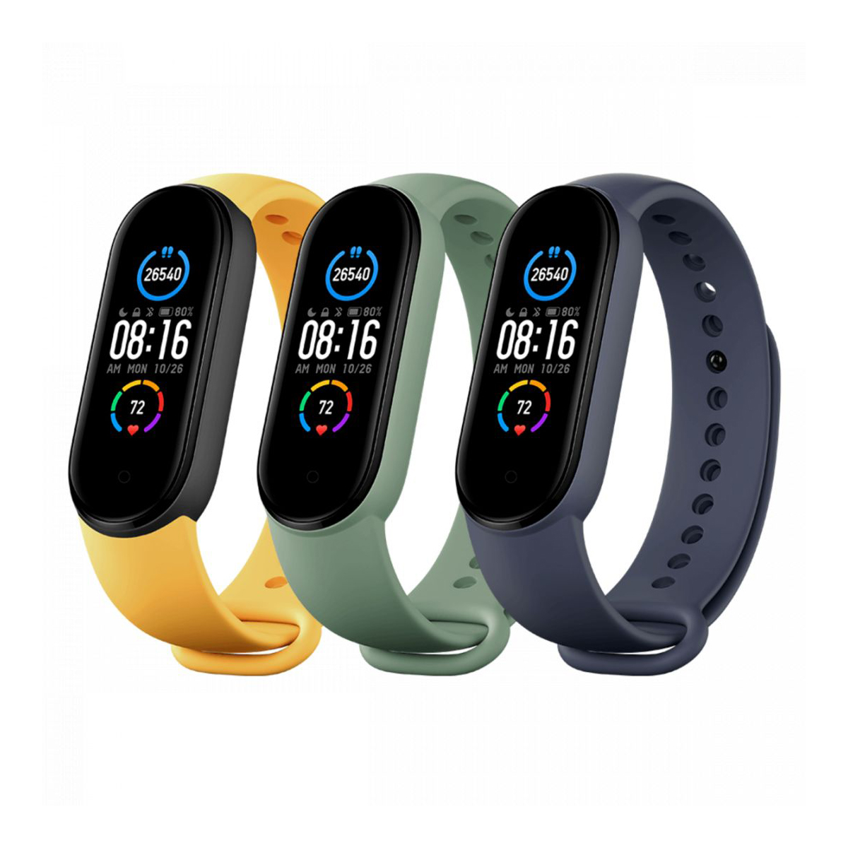 Mi Smart Band 5/6 Strap (3-Pack) Blue/Green/Yellow - pánt kék, zöld, sárga