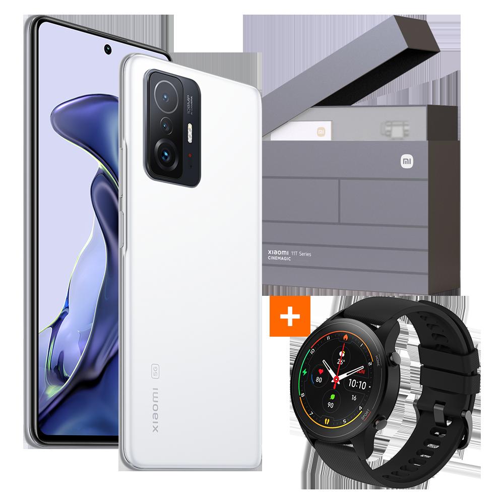 Xiaomi 11T 8GB+128GB Gift Box + Mi Watch, Moonlight White