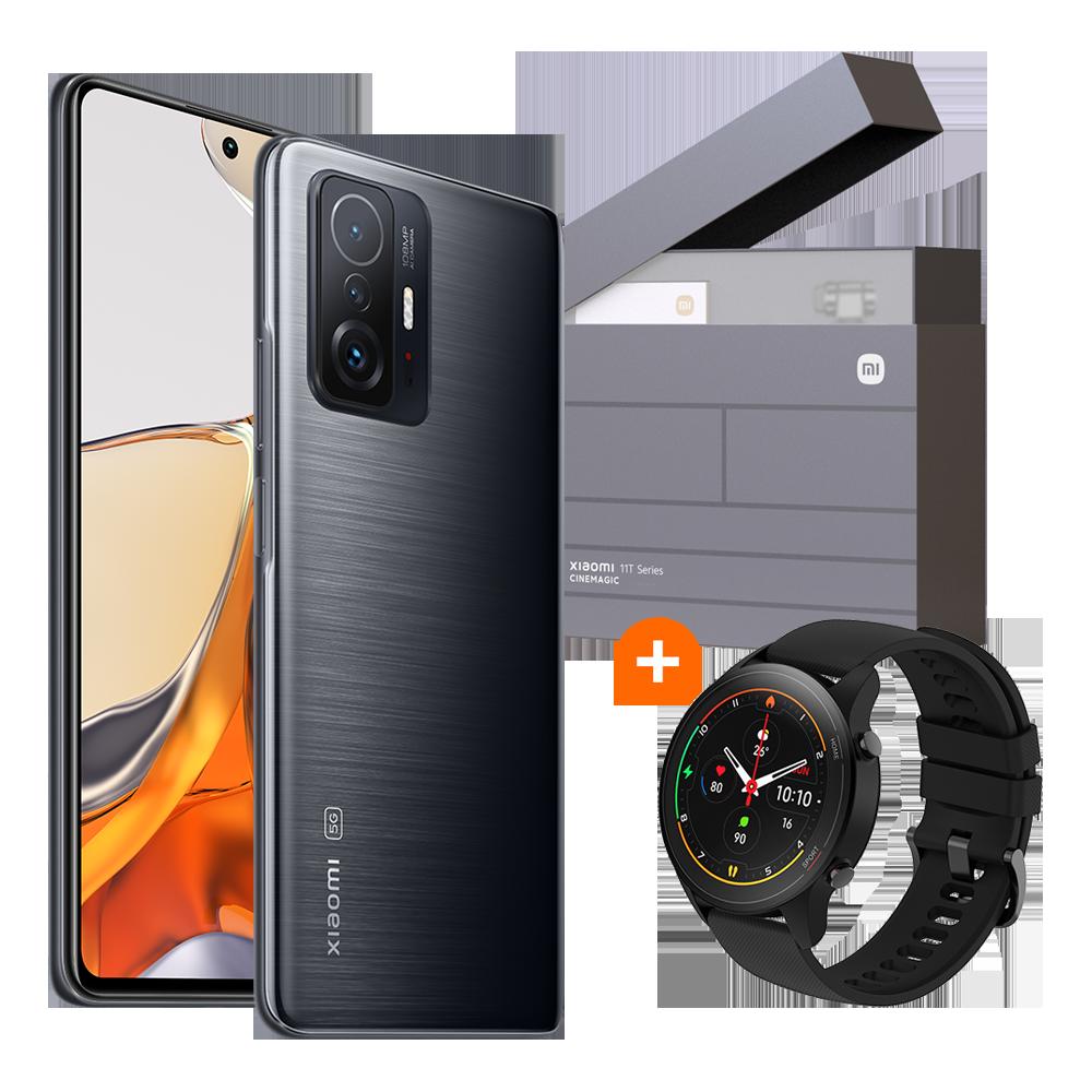 Xiaomi 11T Pro 8GB+128GB Gift Box + Mi Watch, Meteorite Gray