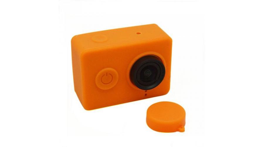Yi Camera szilikon tok + lencsevédő - narancs