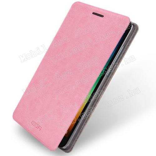 Redmi Note 3 műbőr fliptok - rózsaszín