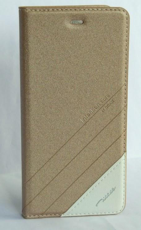 Redmi Note 3 műbőr fliptok - arany
