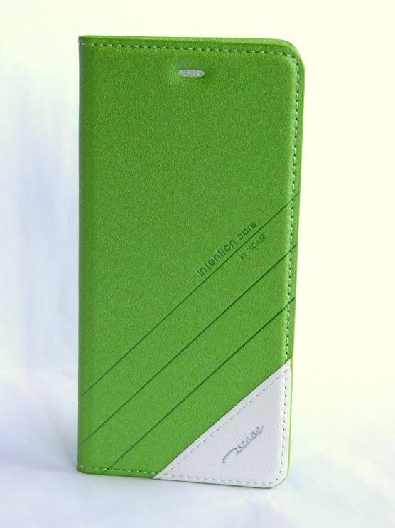 Redmi Note 3 műbőr fliptok - zöld