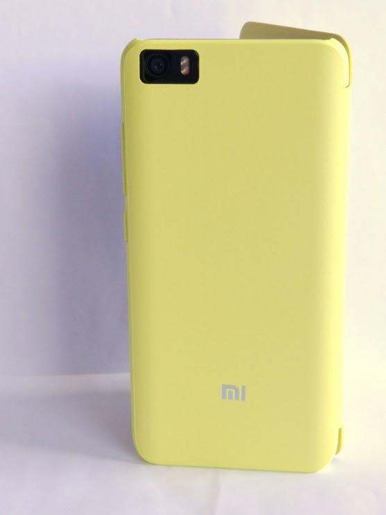 Mi5 bőr fliptok - sárga, original