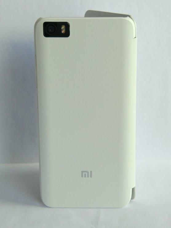Redmi 3 bőr fliptok - fehér, original