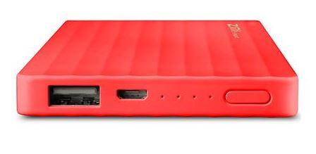 Power Bank 10000mAh ZMI külső akkumulátor - piros