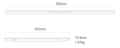 """Mi Notebook Air - 12,5"""" - M3/ 4GB / 128GB, Argintie"""