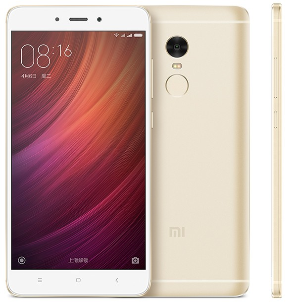 Redmi Note 4 MTK okostelefon - 3+32GB, arany